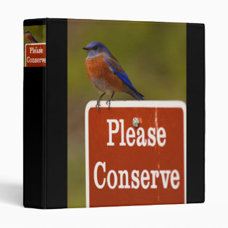 please conserve 3 ring binder