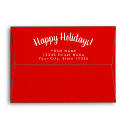 Please deliver to custom Merry Christmas envelopes