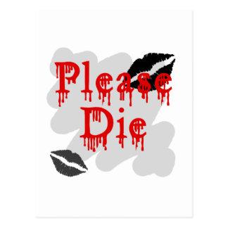 please die postcard