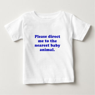 Please Direct me to the Nearest Baby Animal Tee Shirt
