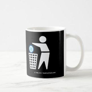 Please Dispose of Socialism - Dem symbol Wht Figr Coffee Mug