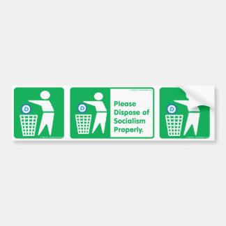 Please Dispose of Socialism - Democrat symbol Bumper Sticker