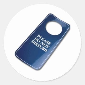 Please do not disturb classic round sticker