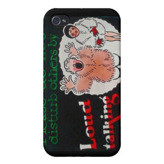 Please Do Not Disturb Others By Loud Talking Case For iPhone 4