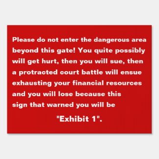 Please Do Not Enter Warning Yard Sign Medium Size