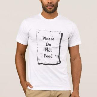 PLEASE DO NOT FEED, MEN'S SHIRT