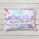 "Please Do Not Feed The Mermaids lavender aqua Outdoor Pillow<br><div class=""desc"">Please Do Not Feed The Mermaids lavender aqua</div>"