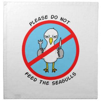 Please do not feed the seagulls napkin