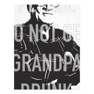 Please do not get Grandpa Drunk Letterhead
