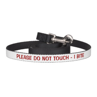 Please Do Not Touch I Bite Warning Dog Lead
