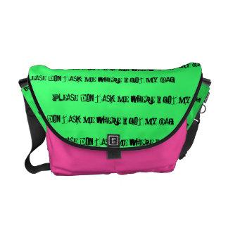 PLEASE DON'T ASK Messenger Bag