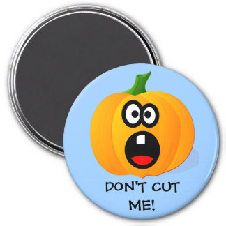Please Don't Cut the Scared Halloween Pumpkin 3 Inch Round Magnet