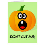 Please Don't Cut the Scared Halloween Pumpkin Cards