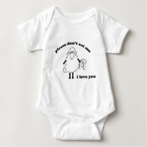 Please don't eat me, I love you (Sheep) Baby Bodysuit