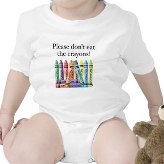 Please don't eat the crayons t-shirt