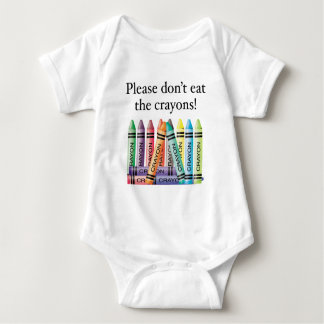 Please don't eat the crayons tee shirts