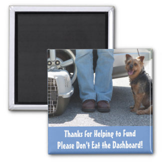 Please Don't Eat the Dashboard, The Pet Courier 2 Inch Square Magnet