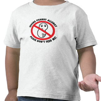 Please Don't Feed Me-Peanut Allergy Toddler TShirt
