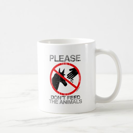 Please Don't Feed the Animals (Democrat) Faded.png Classic White Coffee Mug
