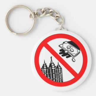 Please Don't Feed the Church Keychain