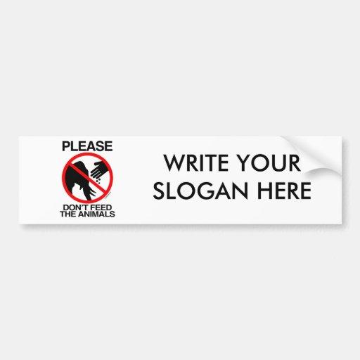 Please Don't Feed the Elephants Car Bumper Sticker