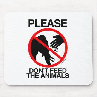 Please Don't Feed the Elephants Mousepads