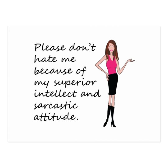 Please Don't Hate Me Sarcastic Design Postcard