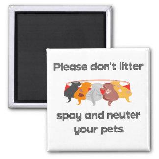 Please Don't Litter Magnet