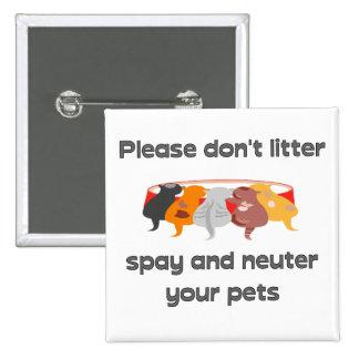 Please Don't Litter Pinback Button