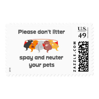 Please Don't Litter Stamps