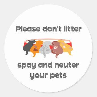 Please Don't Litter Round Sticker