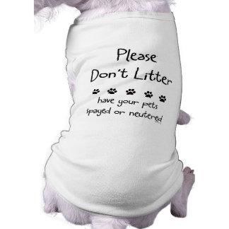 Please Dont Litter Tee