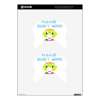 Please Don't Mind-Cute Monkey-Morocko Xbox 360 Controller Skin