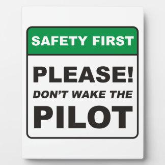 Please, don't wake the Pilot! Plaque
