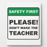 Please, don't wake the Teacher! Display Plaques