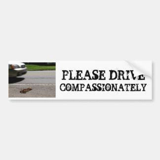 PLEASE DRIVE COMPASSIONTELY BUMPER STICKER