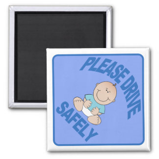 Please drive safely - Baby Boy Blue Magnets