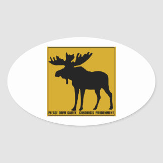 Please Drive Safely,  Traffic Sign, Canada Oval Sticker