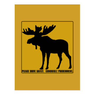 Please Drive Safely,  Traffic Sign, Canada Postcard