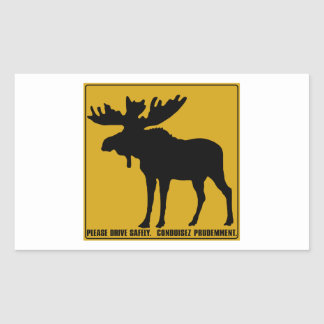 Please Drive Safely,  Traffic Sign, Canada Rectangular Sticker