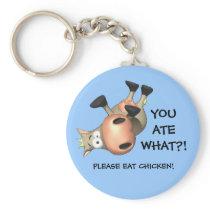 Please eat chicken! keychain