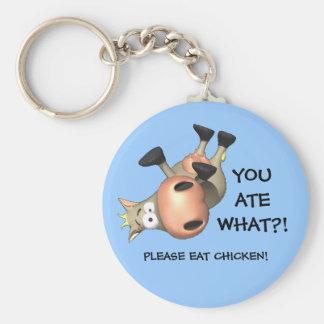 Please eat chicken! basic round button keychain