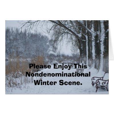 Please Enjoy This Nondenominational Winter Scene. Card | Zazzle.com