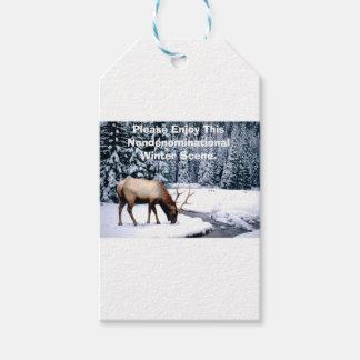 Please Enjoy This Nondenominational Winter Scene. Gift Tags