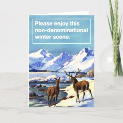 Please Enjoy This Nondenominational Winter Scene. Holiday Card
