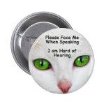 Please Face Me Button Cat Eyes