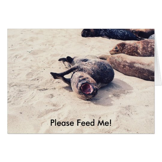 Please Feed Me! Card