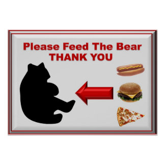 Please Feed the Bear Poster