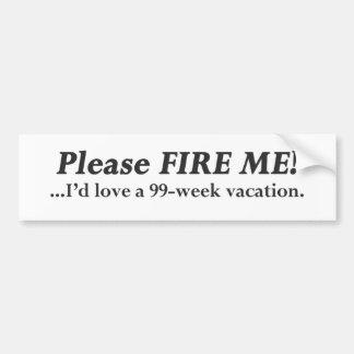 Please Fire Me.pdf Car Bumper Sticker