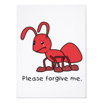 Please Forgive Me Crying Weeping Red Ant Card